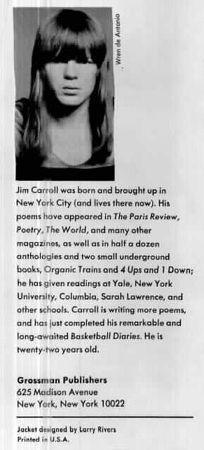 Jim Carroll: Author Photo