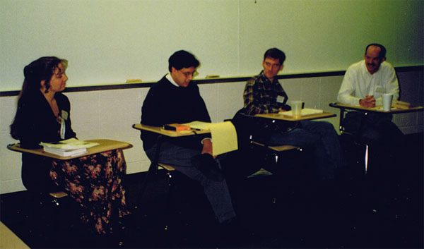 Jim Carroll Scholars (1996): Cassie Carter, David Gallant, Steve Perrin, Rich Campbell