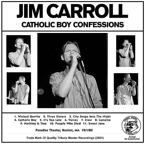 Bootlegs & Rarities - Jim Carroll Music and Spoken Word